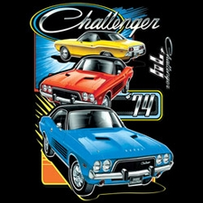 Wholesale Dodge Car Licensed T Shirts Clothing Bulk Suppliers - CHALLENGER TRIO 20417HD2-2T