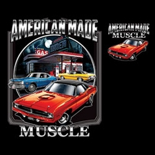 Wholesale Dodge Car Licensed T Shirts Clothing Bulk Suppliers - CHRYSLER AMERICAN MADE MUSCLE 20418HD2-2T
