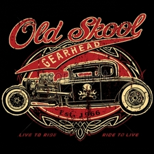 Wholesale T-Shirts, Classic Car T Shirts - 15730-13x11-old-skool-gearhead-1