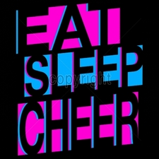 Custom Gildan T Shirts Printed Funny, Wholesale T Shirts - 11x14-eat-sleep-cheer-neon