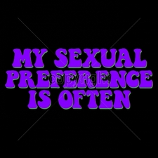 Custom Gildan T Shirts Printed Funny, Wholesale T Shirts - 11x4-my-sexual-preference-often-neon
