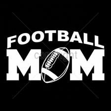 Custom Gildan T Shirts Printed Funny, Wholesale T Shirts - 11x6-football-mom-white-ink
