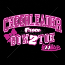 Wholesale Printed T Shirts Suppliers Funny Clothing - 16975-9x6-cheerleader-bow-2-toe-neon-puff