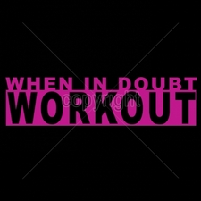 Custom Gildan T Shirts Printed Funny, Wholesale T Shirts - 16979-11x3-when-doubt-workout-neon-puff