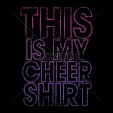 Custom Gildan T Shirts Printed Funny, Wholesale T Shirts - 16980-8x12-my-cheer-shirt-neon-puff
