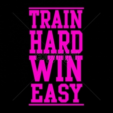 T-Shirt Printing, Custom T-Shirts, Gildan T Shirts Printed Funny, Wholesale T Shirts - 16983-8x14-train-hard-win-easy-neon-puff