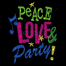 Custom Gildan T Shirts Printed Funny, Wholesale T Shirts - 7x9-peace-love-party-neon-puff