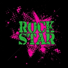Custom Gildan T Shirts Printed Funny, Wholesale T Shirts - 8x8-rock-star-neon-puff
