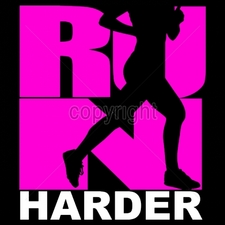 Custom Gildan T Shirts Printed Funny, Wholesale T Shirts - 8x9-run-harder-silhouette-neon