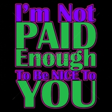 Custom Gildan T Shirts Printed Funny, Wholesale T Shirts - 9x11-im-not-paid-enough-be-nice-you-neon