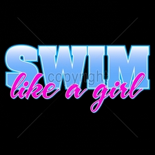 Custom Gildan T Shirts Printed Funny, Wholesale T Shirts - 9x4-swim-girl-neon