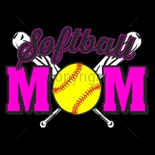 Custom Gildan T Shirts Printed Funny, Wholesale T Shirts - 9x6-softball-mom-neon