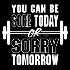 Custom Gildan T Shirts Printed Funny, Wholesale T Shirts - 9x9-sore-today-or-sorry-tomorrow-white-ink