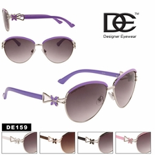 DE� Wholesale Fashion Sunglasses - Style #DE159 (Assorted Colors) (12