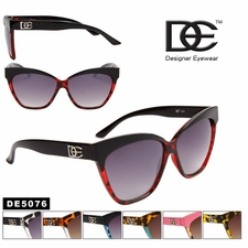 Designer DE� Cat Eye Sunglasses Wholesale - Style # DE5076 Animal Prin