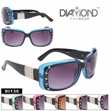 Diamond Eyewear Rhinestone Sunglasses DI130 (Assorted Colors) (12 pcs.