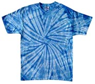 Wholesale - Tie Dye T Shirts - Distributors Tie Dye Shirts - SPIDER BABY BLUE