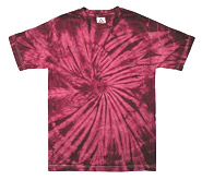 Wholesale - Tie Dye T Shirts - Distributors Tie Dye Shirts - SPIDER CRIMSON