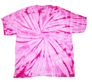 Wholesale - Tie Dye T Shirts - SPIDER FLAMINGO