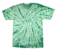 Wholesale - Tie Dye T Shirts - Distributors Tie Dye Shirts - SPIDER MINT