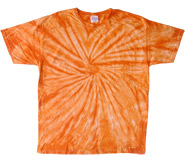 Wholesale - Tie Dye T Shirts - Distributors Tie Dye Shirts - SPIDER ORANGE