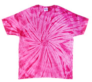 Wholesale - Tie Dye T Shirts - Distributors Tie Dye Shirts - SPIDER PINK