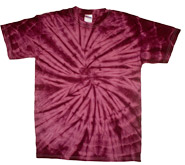 Wholesale T Shirts, Tie Dye - SPIDER PLUM