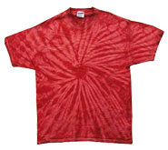 Wholesale - Tie Dye T Shirts - Distributors Tie Dye Shirts - SPIDER RED
