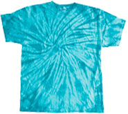 Wholesale - Tie Dye T Shirts - Distributors Tie Dye Shirts - SPIDER TURQ