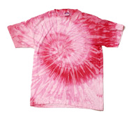 Wholesale Tie Dye T Shirts Suppliers - SPIRAL PINK  LT. PINK