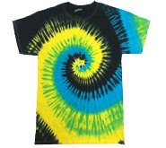 Wholesale - Tie Dye T Shirts - TROPICAL BREEZE