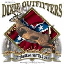 Wholesale Clothing Apparel - Custom Printed Buck Hunting Dixie Outfitters T Shirts - a12189d
