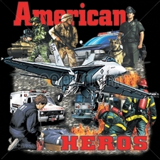 Wholesale Military Style T Shirts - 9713-12x13-american-heros