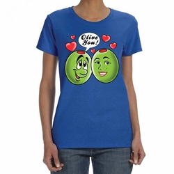 Funny T Shirts Wholesale - Hillarious Sayings One Liners Bulk - Olive You 24008 blue short sleeve