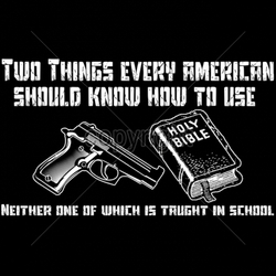 Gun Shirts, Wholesale Hunting T-Shirts -17855-12x7-two-things-every-american-should-know-how-use-neither-one-w