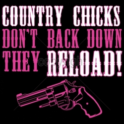 Gun Shirts, Wholesale Hunting T-Shirts -9x8-country-chicks-dont-back-down-they-reload