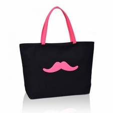 Wholesale Bags, Buy Cool And Fashion Cheap Bags Online - Sweet Womens Shoulder Bag With Moustache Print and Canvas Design 28.9