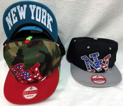 Hats Caps Bulk Suppliers - Hat154ss. Wholesale Snap Back American Flag New York Baseball Hat