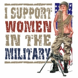 Wholesale T Shirts Hats, Military Tee Shirts, I Support Women In Military - a13398b