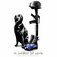 Wholesale Gun T Shirts - Military Dog Tees T Shirts - LABOR OF LOVE 19593HL2