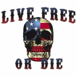 Wholesale T Shirts Hats, Military Tee Shirts, Live Free Or Die Skull - a9256f