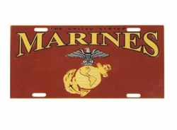 Wholesale Military Goods -MARINE METAL LICENSE PLATE 48.00 case