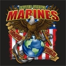 Marines T-Shirts, Military T Shirts, Wholesale T-Shirts - Marines Anchor 22302