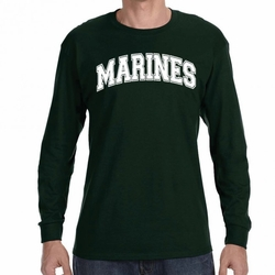Marines Long Sleeve T-Shirts Wholesale - 20897 long sleeve green
