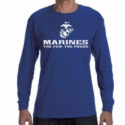 Marines T Shirts Wholesale 22227 long sleeve blue