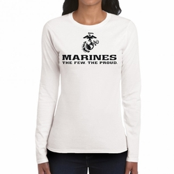 Marines T Shirts Wholesale - 22227 long sleeve white