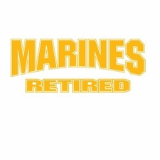 Wholesale T Shirts Hats, Military Tee Shirts, Marines Retired Gold - a8130d