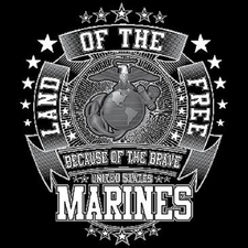Wholesale T Shirts, Custom Clothing, Military, Bulk - Marines T Shirts - Land Of The Free a11677a