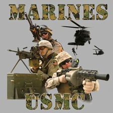 Wholesale Marines USMC T-Shirts Military