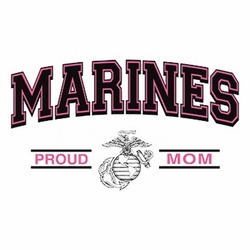 Funny Military Marines Proud Mom Clothing Wholesale T-Shirts - A12335B